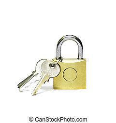 Master key isolated on white