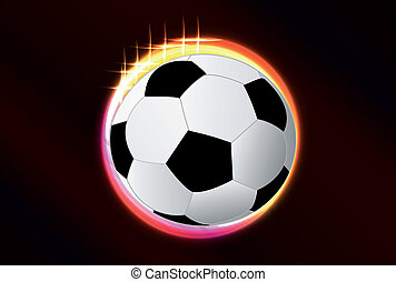 Vector glow circle with soccer ball