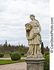 Peterhof palace - Statue in the upper garden of Peterhof...