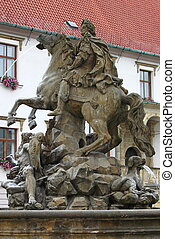 Caesar Fountain in Olomouc, Czech Republic