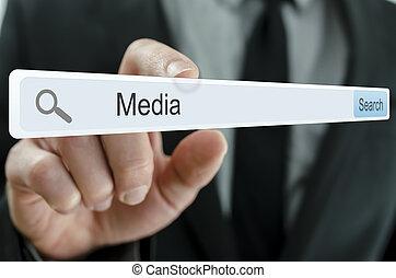 Word Media written in search bar