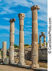 Ephesus ruins Turkey - Ephesus ancient greek ruins in...