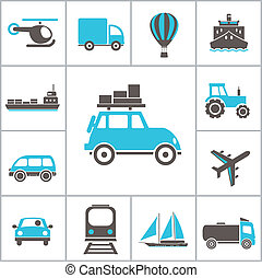Transport icons Vector set for you design