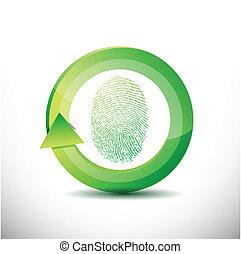 fingerprint recognition software illustration