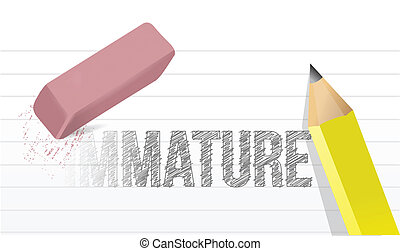 change immaturity concept illustration design over a white...