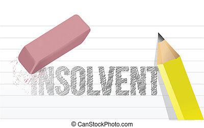 erase insolvency concept illustration