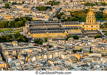 aerial view invalides paris cityscape  France