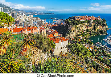 principaute of monaco and monte carlo - the rock the city of...