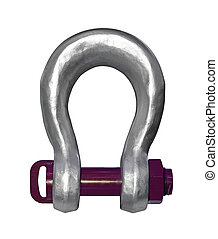 Shackle isolated - Heavy duty shackle isolated with clipping...