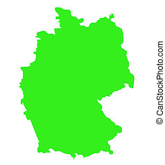 Federal Republic of Germany map outline - Outline map of...