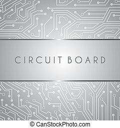 circuit board design over gray background vector...