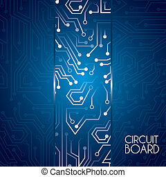 circuit board deisgn - circuit board design over blue...