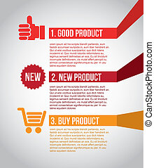 infographics shopping over gray background vector...