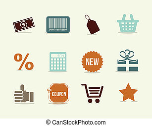 shoping icons over white background vector illustration