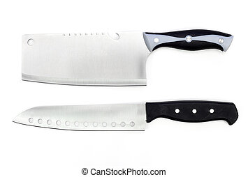 Kitchen knife on a white background