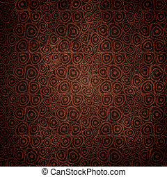 Vintage Doodle circles coffee seamless background - Dark...