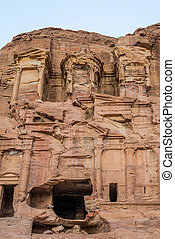 the Corinthian Tomb in nabatean city of  petra jordan