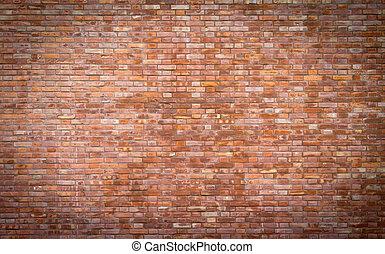 fundo, tijolo, parede, textura