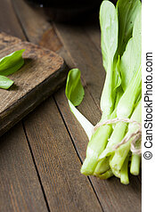 unch of fresh green Chinese cabbage, food fresh