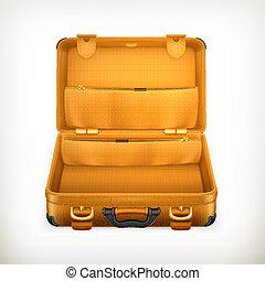 Open Suitcase, vector