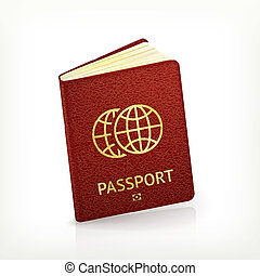 Passport, vector
