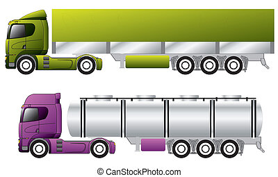 European trucks with trailers - European trucks with awning...