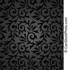 Seamless fancy floral background
