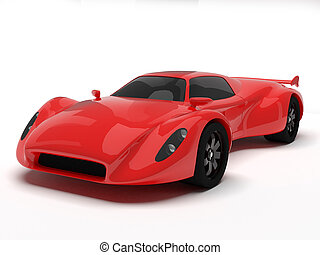 Red race car isolated