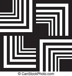 Corners game abstract background