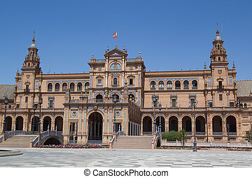 Plaza de Espana - The main Building in the Plaza de Espana...