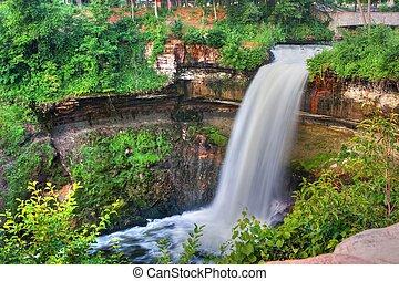 Peaceful Waterfall in High Dynamic Range - Beautiful...