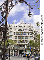 casa mila styled by antonio gaudi in barcelona