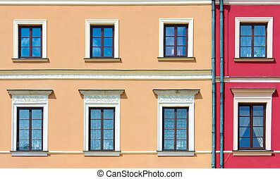 Facade of a building with windows