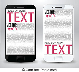 Smartphone space for the text