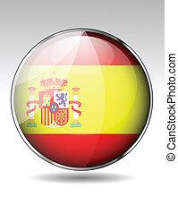 Spain flag button