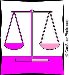 Symbol of justice Scale