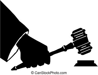 Hand holding a gavel