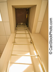 roof access hatch - stairwell roof access hatch in a...
