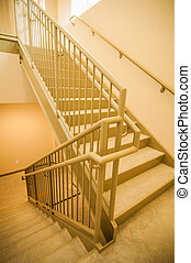 Stairwell and emergency exit in building