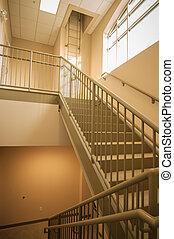 Stairwell and emergency exit in building - Stairwell and...