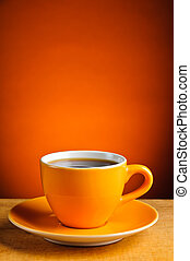 espresso coffee cup - still life with orange espresso coffee...