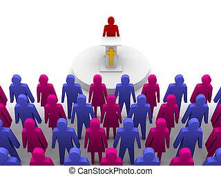 sermón, iglesia, pastor, predicador