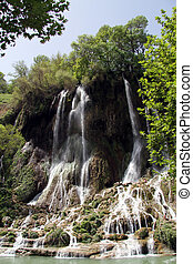 Waterfall near village Bisheh, Iran