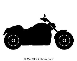Chopper - Black silhouette on a chopper. Vector...