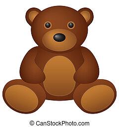 teddy bear - Teddy bear toy on a white background. Vector...
