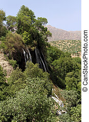 Waterfall near village Bisheh in Iran