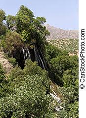 Waterfall near village Bisheh in Iran