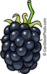 blackberry fruit cartoon illustration - Cartoon Illustration...