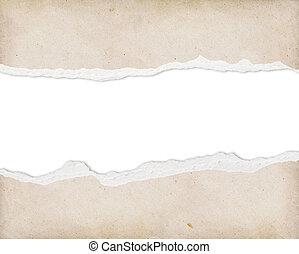 texto, rasgado, papel, libre, espacio