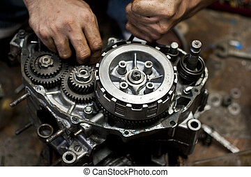 Motorcycle engine repair